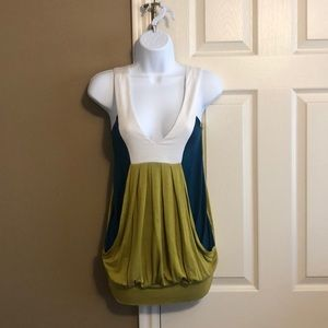 Olive Green V Womens Top